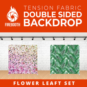 Flower Leaft Set Double Sided Tension Fabric Photo Booth Backdrop