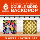 Flower Leather Set-2 Double Sided Tension Fabric Photo Booth Backdrop