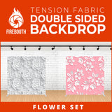 Flower Set-5 Double Sided Tension Fabric Photo Booth Backdrop