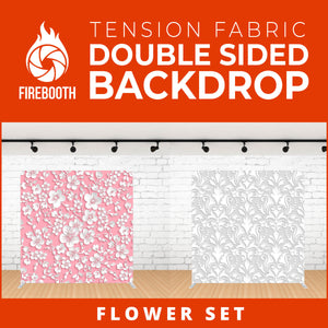 Flower Set-6 Double Sided Tension Fabric Photo Booth Backdrop