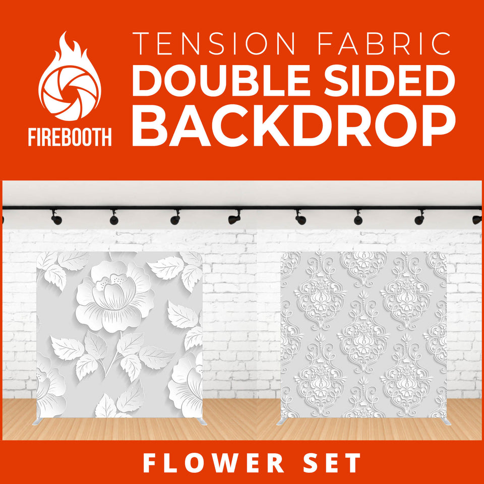 Flower Set-7 Double Sided Tension Fabric Photo Booth Backdrop