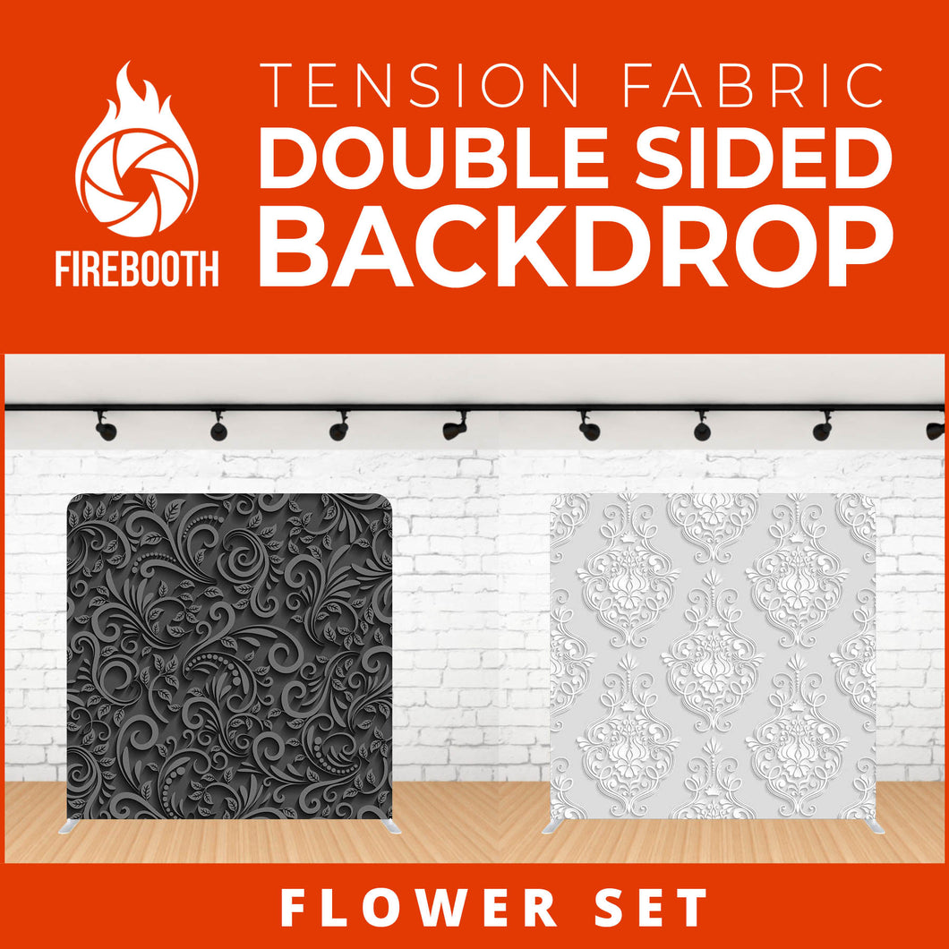 Flower Set-8 Double Sided Tension Fabric Photo Booth Backdrop
