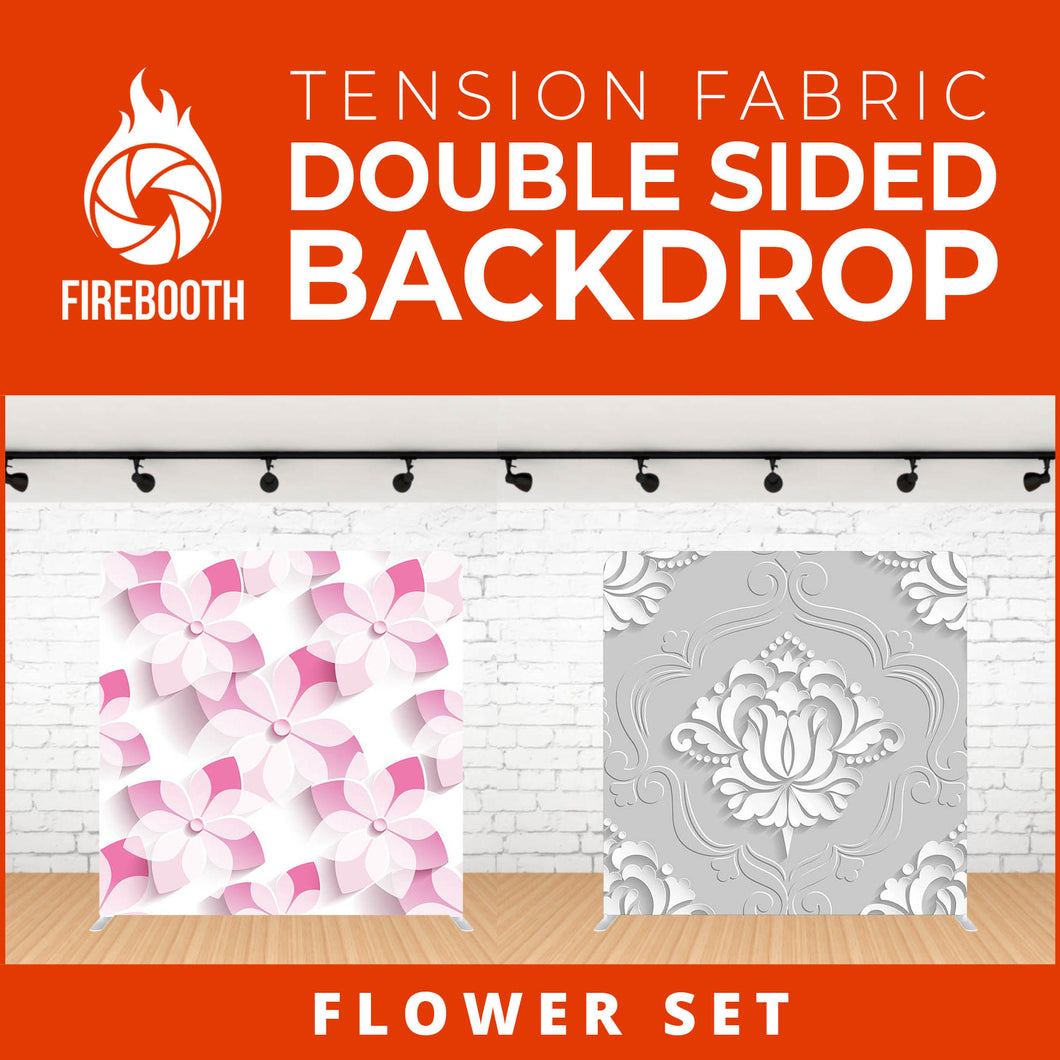 Flower Set-9 Double Sided Tension Fabric Photo Booth Backdrop