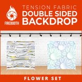 Flower Set-10 Double Sided Tension Fabric Photo Booth Backdrop