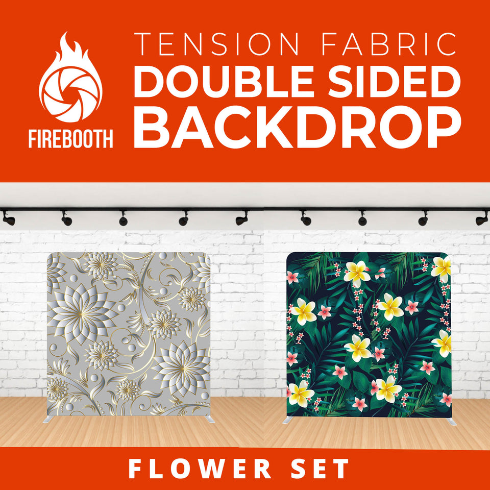 Flower Set-1 Double Sided Tension Fabric Photo Booth Backdrop