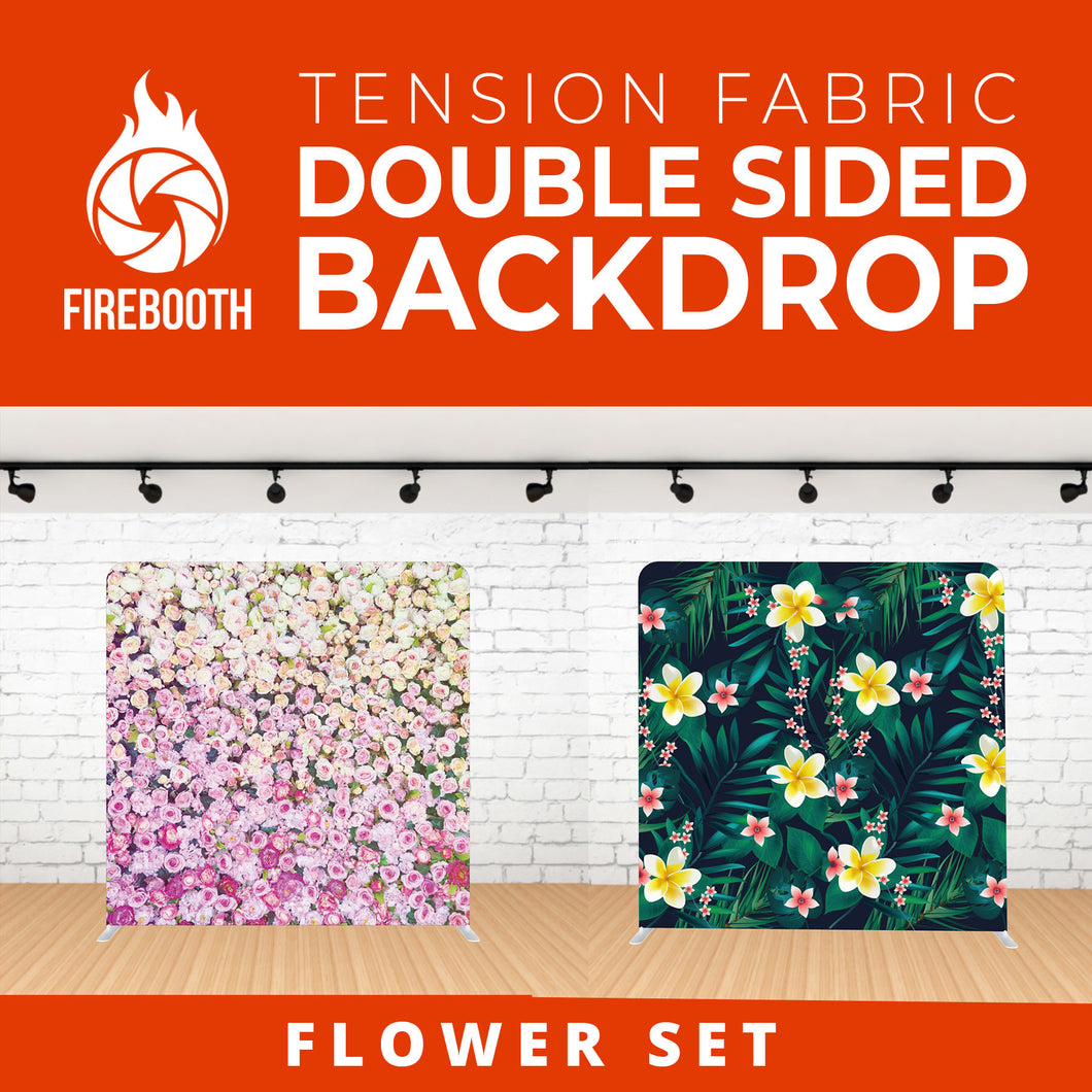 Flower Set-4 Double Sided Tension Fabric Photo Booth Backdrop