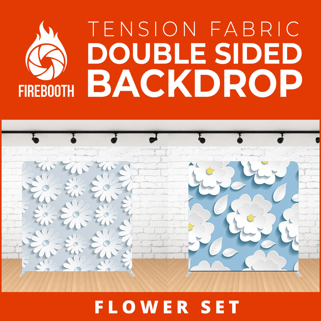 Flower Set Double Sided Tension Fabric Photo Booth Backdrop