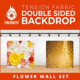 Flower Wall Set Double Sided Tension Fabric Photo Booth Backdrop