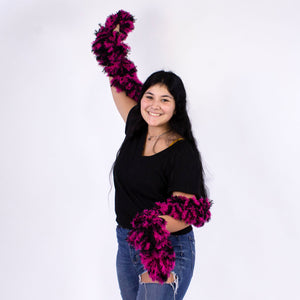 FireBooth™ No Mess Super Sized Featherless Boa - Pink and Black