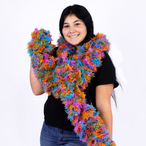 FireBooth™ No Mess Super Sized Featherless Boa - Rainbow