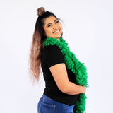 FireBooth™ No Mess Super Sized Featherless Boa - Green