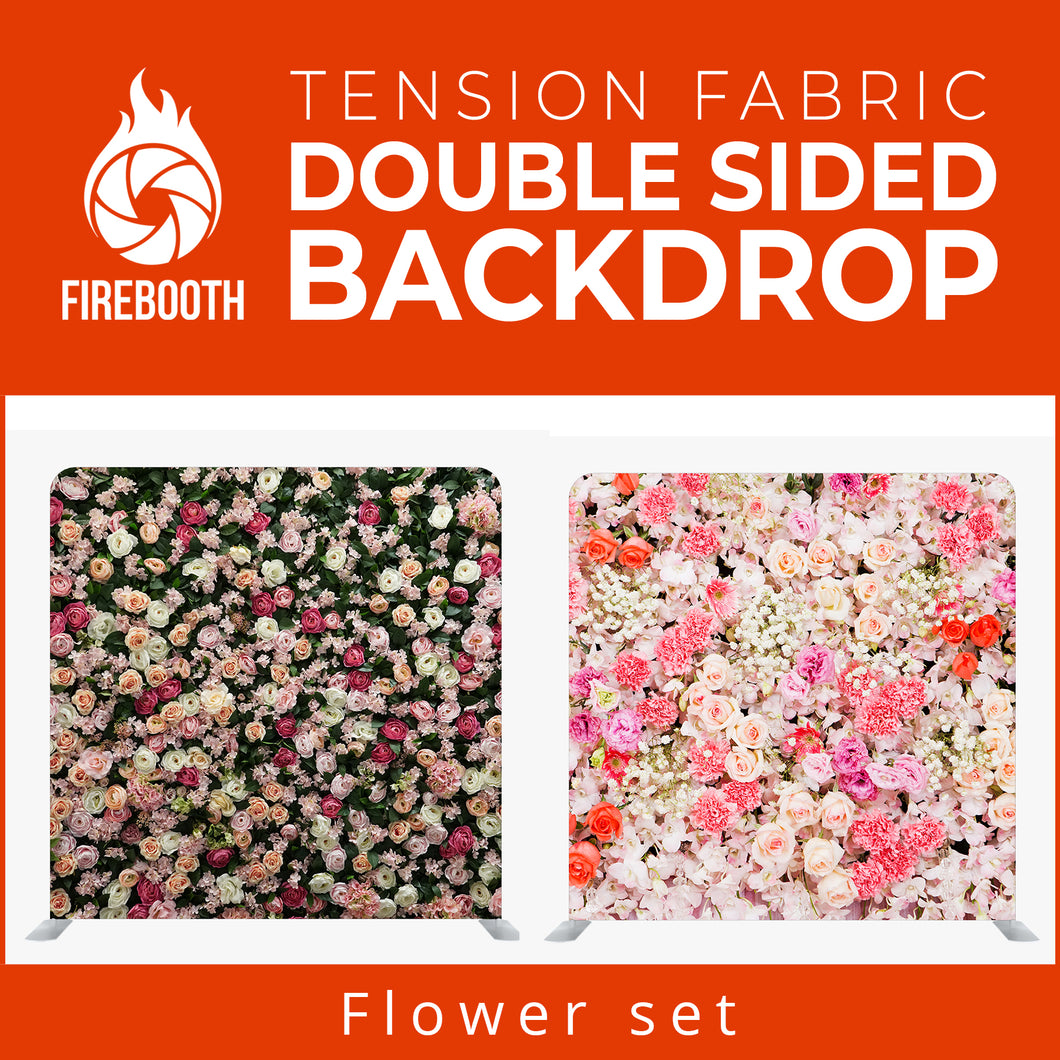 Flower Set1 Double Sided Tension Fabric Photo Booth Backdrop
