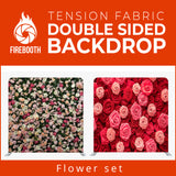 Flower Set2 Double Sided Tension Fabric Photo Booth Backdrop