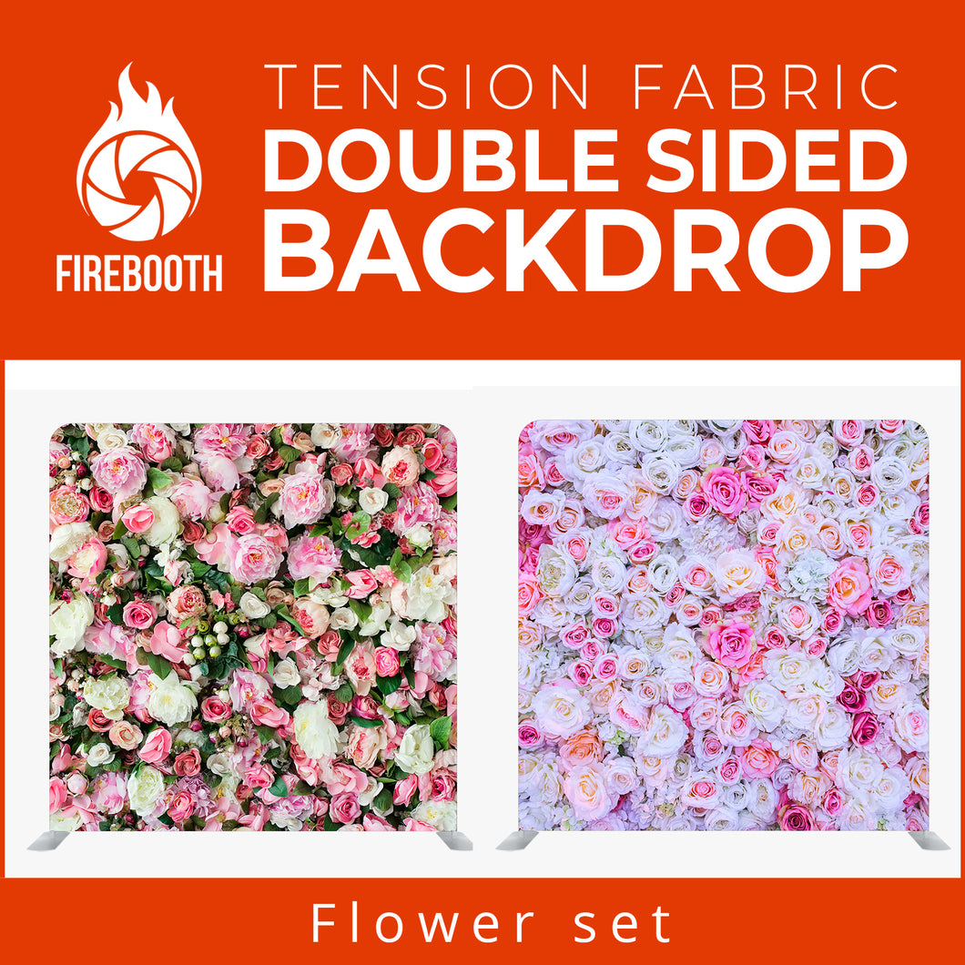 Flower Set3 Double Sided Tension Fabric Photo Booth Backdrop