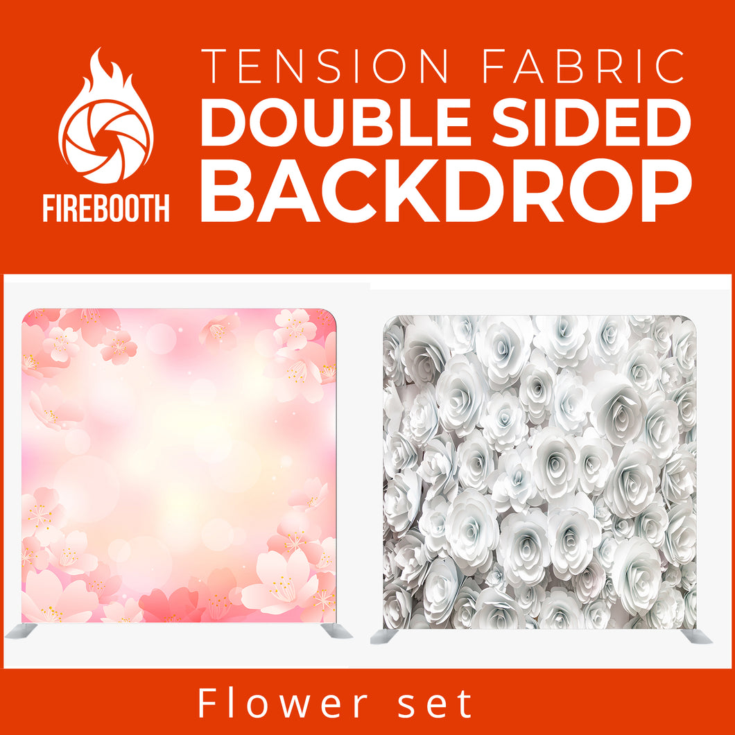 Flower Set7 Double Sided Tension Fabric Photo Booth Backdrop