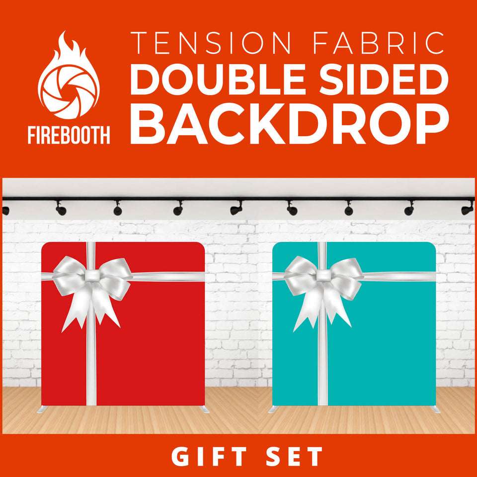 Gift Set Double Sided Tension Fabric Photo Booth Backdrop