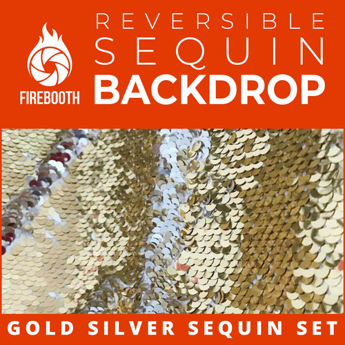 Gold Silver Reversible Sequin Photo Booth Backdrop