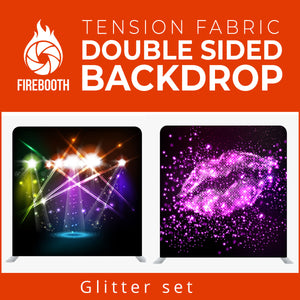 Glitter Set1 Double Sided Tension Fabric Photo Booth Backdrop