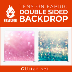 Glitter Set2 Double Sided Tension Fabric Photo Booth Backdrop