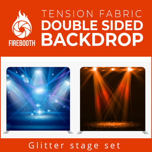 Glitter Stage Set1 Double Sided Tension Fabric Photo Booth Backdrop