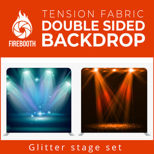Glitter Stage Set3 Double Sided Tension Fabric Photo Booth Backdrop