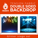 Glitter Stage Set6 Double Sided Tension Fabric Photo Booth Backdrop