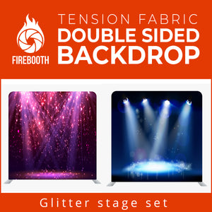 Glitter Stage Set8 Double Sided Tension Fabric Photo Booth Backdrop