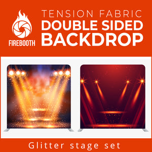 Glitter Stage Set9 Double Sided Tension Fabric Photo Booth Backdrop