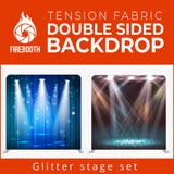 Glitter Stage Set Double Sided Tension Fabric Photo Booth Backdrop