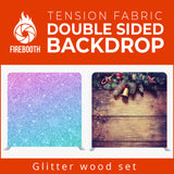 Glitter Wood Set Double Sided Tension Fabric Photo Booth Backdrop
