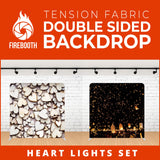 Heart Light Set Double Sided Tension Fabric Photo Booth Backdrop