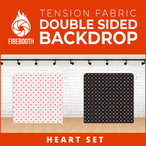 Heart Set-1 Double Sided Tension Fabric Photo Booth Backdrop
