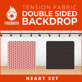 Heart Set-3 Double Sided Tension Fabric Photo Booth Backdrop
