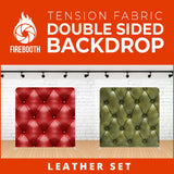 Leather Set-1 Double Sided Tension Fabric Photo Booth Backdrop