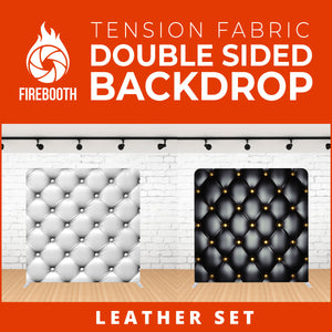 Leather Set Double Sided Tension Fabric Photo Booth Backdrop