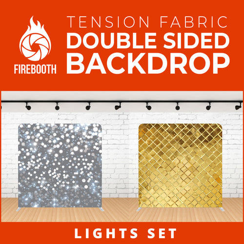 Lights Set-3 Double Sided Tension Fabric Photo Booth Backdrop