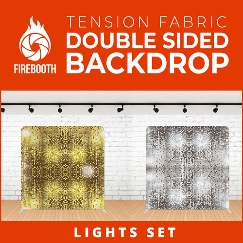 Lights Set-5 Double Sided Tension Fabric Photo Booth Backdrop
