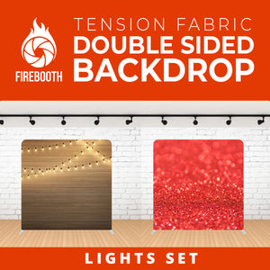 Lights Set-1 Double Sided Tension Fabric Photo Booth Backdrop