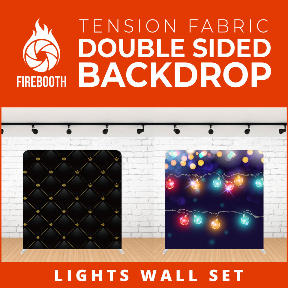 Lights Wall Set Double Sided Tension Fabric Photo Booth Backdrop