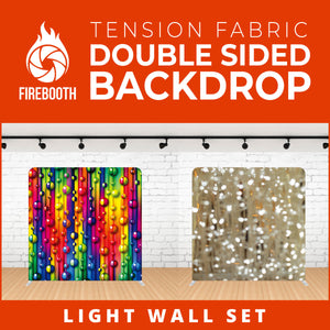 Light Wall Set Double Sided Tension Fabric Photo Booth Backdrop