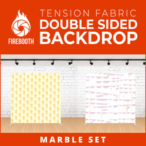 Marble Set-10 Double Sided Tension Fabric Photo Booth Backdrop