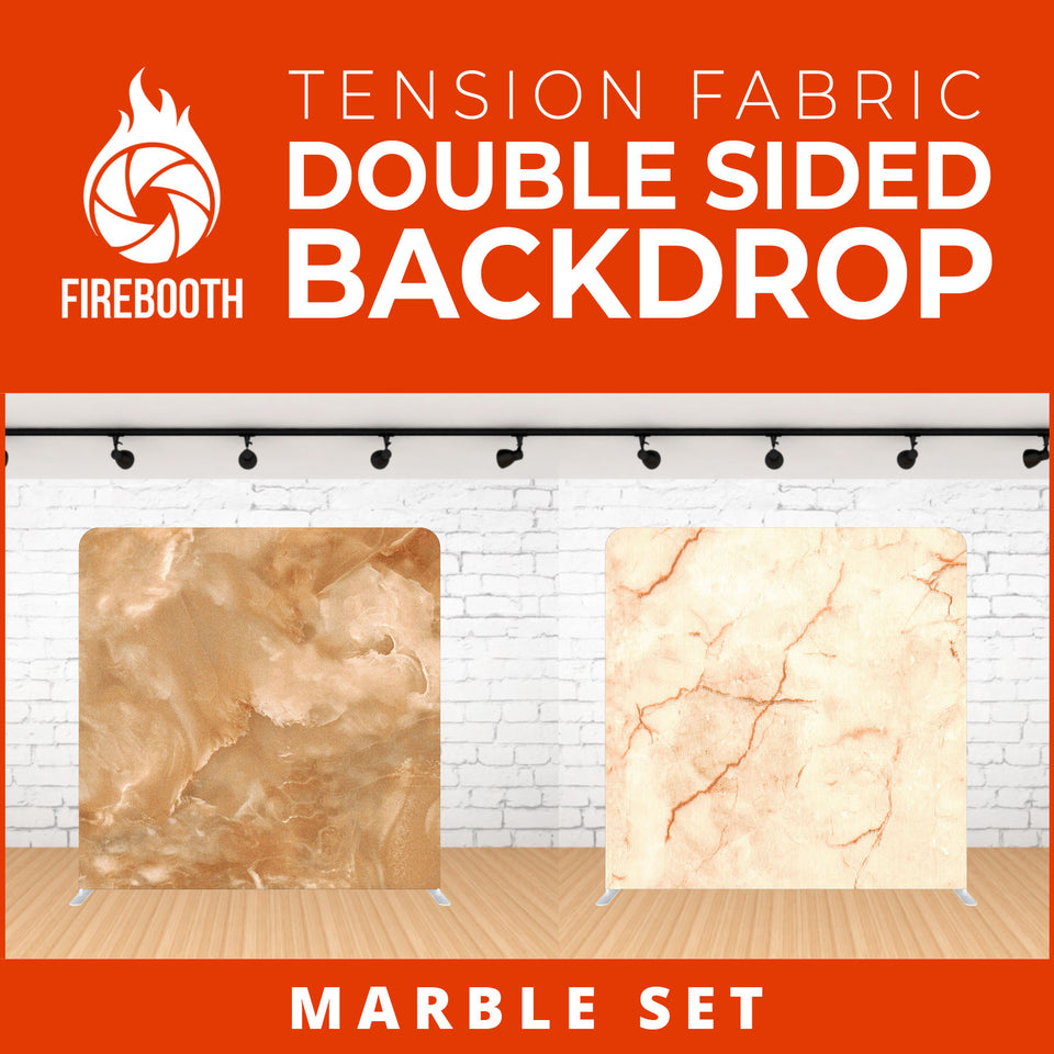 Marble Set-11 Double Sided Tension Fabric Photo Booth Backdrop