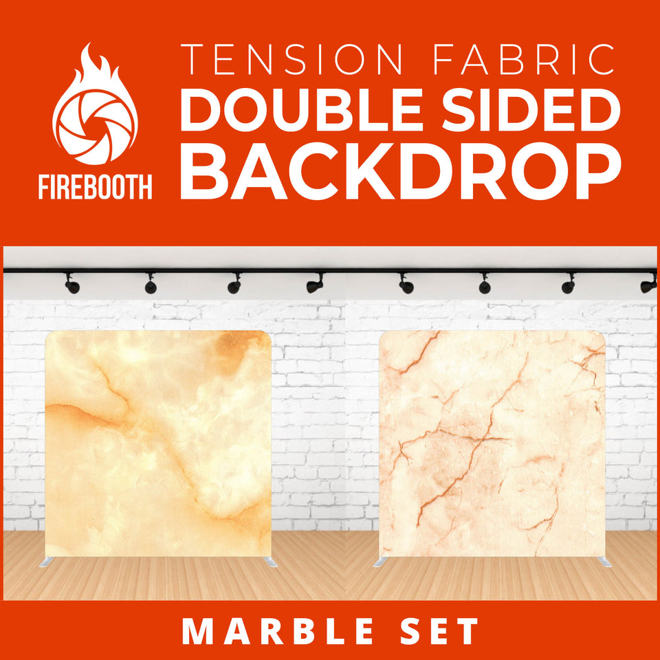 Marble Set-12 Double Sided Tension Fabric Photo Booth Backdrop