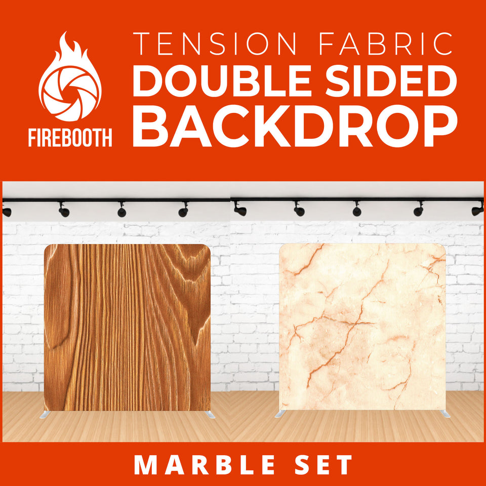 Marble Set-13 Double Sided Tension Fabric Photo Booth Backdrop