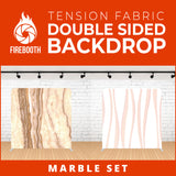 Marble Set-14 Double Sided Tension Fabric Photo Booth Backdrop