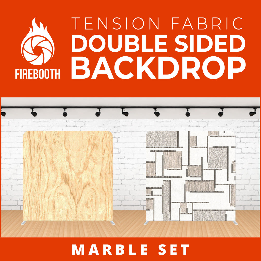 Marble Set-9 Double Sided Tension Fabric Photo Booth Backdrop