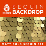 Matt Gold Sequin Photo Booth Backdrop