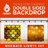 Mermaid Lights Set Double Sided Tension Fabric Photo Booth Backdrop