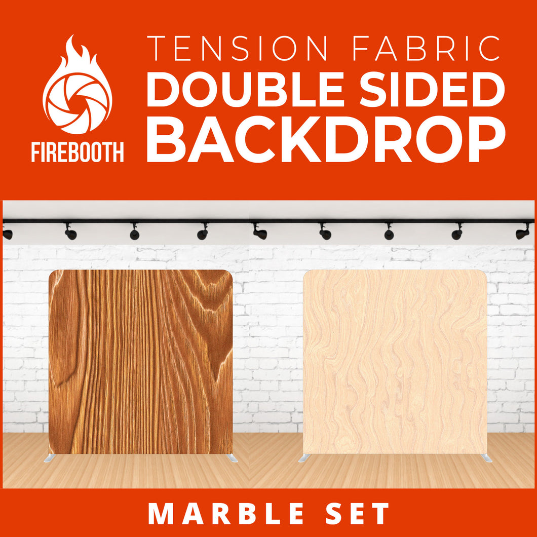 Marble Set-1 Double Sided Tension Fabric Photo Booth Backdrop