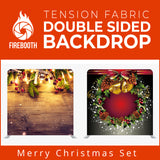 Merry Christmas Set10 Double Sided Tension Fabric Photo Booth Backdrop